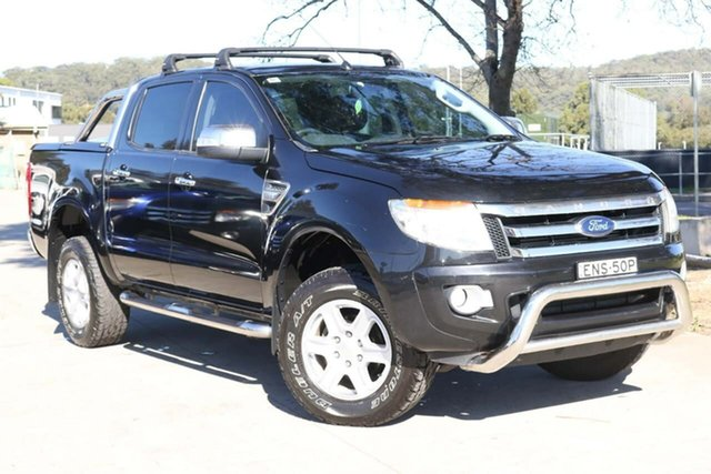 Used Ford Ranger PX XLT Double Cab West Gosford, 2013 Ford Ranger PX XLT Double Cab Black 6 Speed Sports Automatic Utility