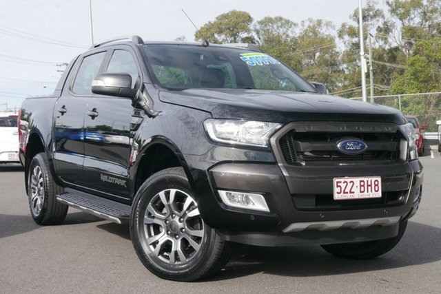 Used Ford Ranger PX MkII 2018.00MY Wildtrak Double Cab Hillcrest, 2018 Ford Ranger PX MkII 2018.00MY Wildtrak Double Cab Black 6 Speed Sports Automatic Utility
