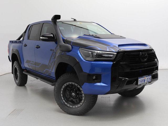 Used Toyota Hilux GUN125R Workmate (4x4), 2017 Toyota Hilux GUN125R Workmate (4x4) Blue 6 Speed Manual Dual Cab Utility