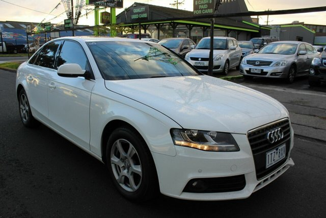 Used Audi A4 B8 8K MY12 Multitronic West Footscray, 2011 Audi A4 B8 8K MY12 Multitronic White 8 Speed Constant Variable Sedan