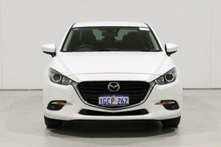 2016 Mazda 3 BN MY17 Maxx White 6 Speed Automatic Sedan.