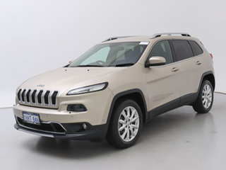 2015 Jeep Cherokee KL MY16 Limited (4x4) Gold 9 Speed Automatic Wagon.