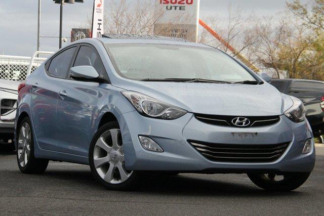 Used Hyundai Elantra MD Premium Essendon Fields, 2012 Hyundai Elantra MD Premium Blue 6 Speed Sports Automatic Sedan