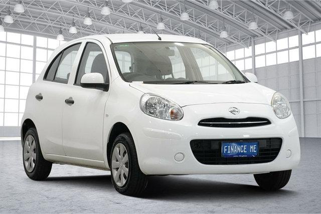 Used Nissan Micra K13 MY13 ST Victoria Park, 2013 Nissan Micra K13 MY13 ST White 4 Speed Automatic Hatchback