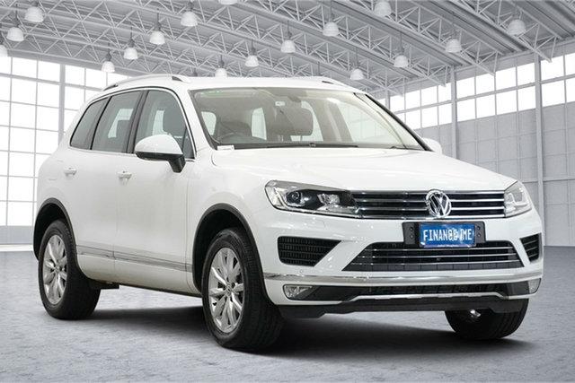Used Volkswagen Touareg 7P MY17 150TDI Tiptronic 4MOTION Victoria Park, 2017 Volkswagen Touareg 7P MY17 150TDI Tiptronic 4MOTION Pure White 8 Speed Sports Automatic Wagon