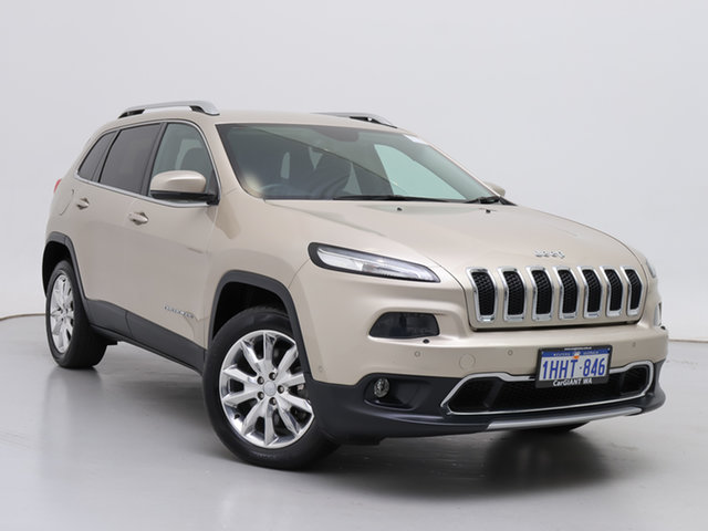 Used Jeep Cherokee KL MY16 Limited (4x4), 2015 Jeep Cherokee KL MY16 Limited (4x4) Gold 9 Speed Automatic Wagon