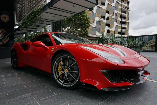 Used Ferrari 488 Pista F142 East Brisbane, 2019 Ferrari 488 Pista F142 Rosso Corsa 7 Speed Sports Automatic Dual Clutch Coupe