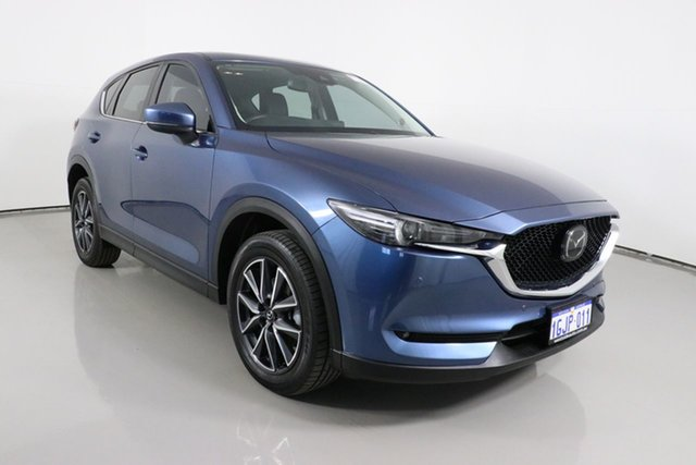 Used Mazda CX-5 MY17 Akera (4x4) Bentley, 2017 Mazda CX-5 MY17 Akera (4x4) Blue 6 Speed Automatic Wagon