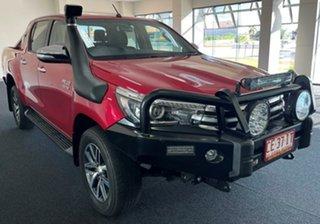 2015 Toyota Hilux GUN126R SR5 Double Cab Maroon 6 Speed Manual Utility.
