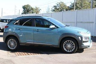 2019 Hyundai Kona OS.2 MY19 Elite D-CT AWD Blue 7 Speed Sports Automatic Dual Clutch Wagon.