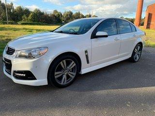 2014 Holden Commodore VF SV6 White 6 Speed Sports Automatic Sedan.
