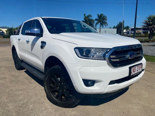 Used Ford Ranger PX MkIII 2020.75MY XLT Townsville, 2020 Ford Ranger PX MkIII 2020.75MY XLT White/260820 6 Speed Sports Automatic Double Cab Pick Up