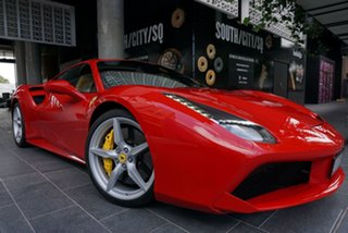2016 Ferrari 488 GTB F142 No Badge Rosso Corsa 7 Speed Sports Automatic Dual Clutch Coupe.