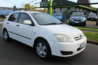 2004 Toyota Corolla ZZE122R 5Y Ascent White 4 Speed Automatic Hatchback.