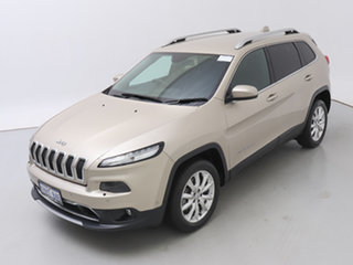2015 Jeep Cherokee KL MY16 Limited (4x4) Gold 9 Speed Automatic Wagon