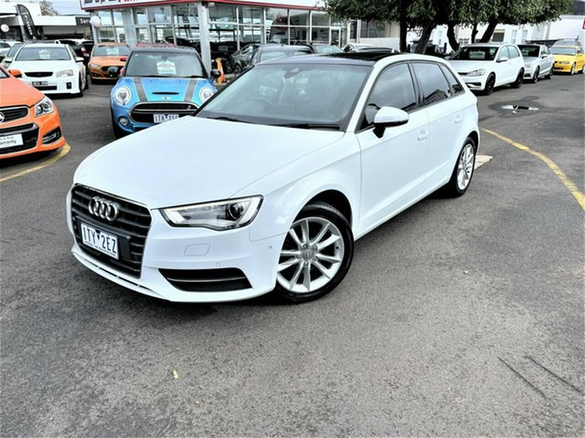 Used Audi A3 8V MY16 Attraction Sportback S Tronic Seaford, 2016 Audi A3 8V MY16 Attraction Sportback S Tronic White 7 Speed Sports Automatic Dual Clutch