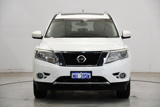 2014 Nissan Pathfinder R52 MY15 ST-L X-tronic 4WD White 1 Speed Constant Variable Wagon.