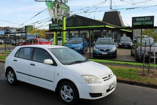 2004 Toyota Corolla ZZE122R 5Y Ascent White 4 Speed Automatic Hatchback