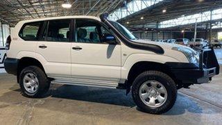 2005 Toyota Landcruiser Prado KZJ120R GX White 4 Speed Automatic Wagon.