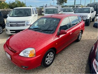 2003 Kia Rio BC Red 4 Speed Automatic Hatchback.