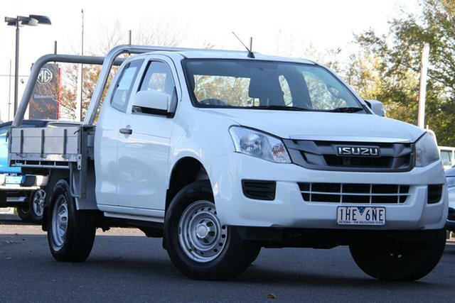 Used Isuzu D-MAX MY15 SX Space Cab Essendon North, 2016 Isuzu D-MAX MY15 SX Space Cab White 5 Speed Manual Cab Chassis