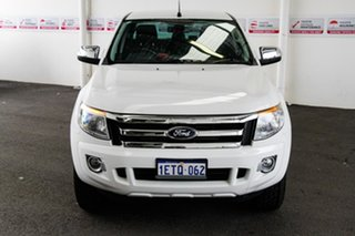 2015 Ford Ranger PX XLT 3.2 (4x4) White 6 Speed Automatic Double Cab Pick Up.