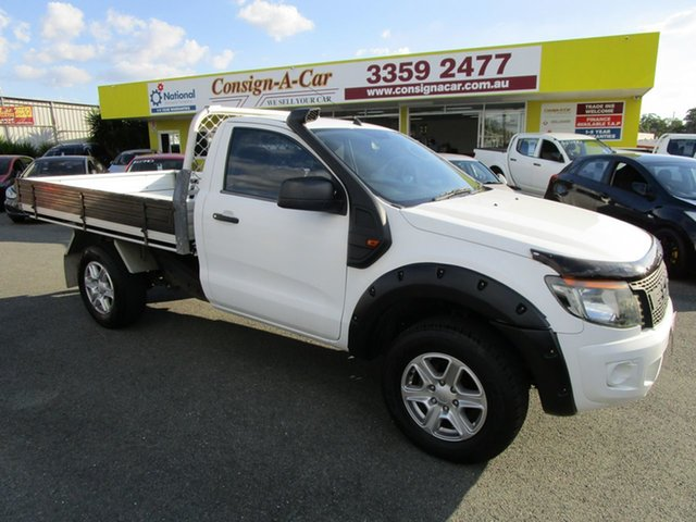 Used Ford Ranger PX XL Kedron, 2012 Ford Ranger PX XL White 6 Speed Sports Automatic Cab Chassis
