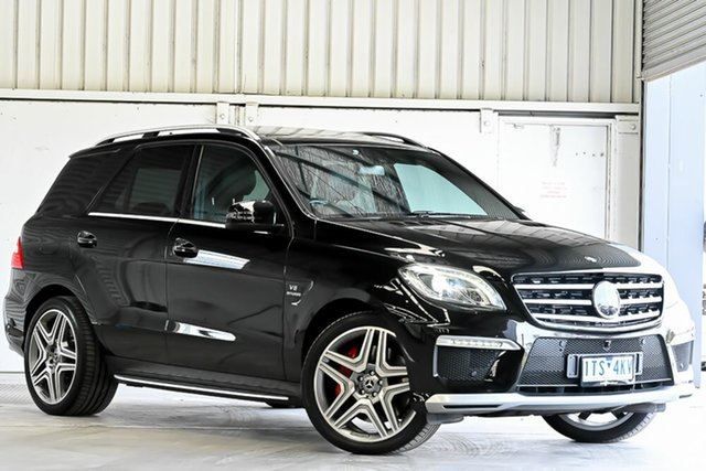 Used Mercedes-Benz M-Class W166 ML63 AMG SPEEDSHIFT DCT Laverton North, 2013 Mercedes-Benz M-Class W166 ML63 AMG SPEEDSHIFT DCT Black 7 Speed Sports Automatic Dual Clutch