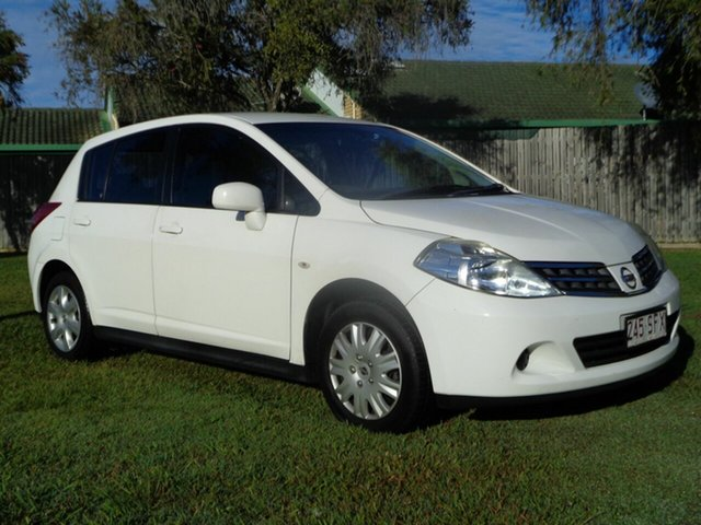 Used Nissan Tiida C11 S3 ST Kippa-Ring, 2012 Nissan Tiida C11 S3 ST White 4 Speed Automatic Hatchback