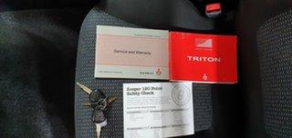2012 Mitsubishi Triton MN MY12 GLX-R Double Cab White 5 Speed Manual Utility