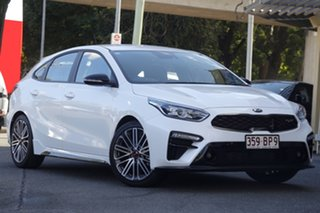 2020 Kia Cerato BD MY21 GT DCT Snow White 7 Speed Sports Automatic Dual Clutch Hatchback.