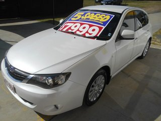 2007 Subaru Impreza G3 MY08 R AWD White 5 Speed Manual Hatchback.
