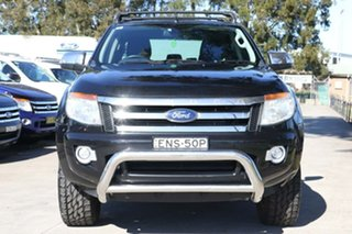 2013 Ford Ranger PX XLT Double Cab Black 6 Speed Sports Automatic Utility