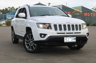 2013 Jeep Compass MK MY14 Limited (4x4) White 6 Speed Automatic Wagon.
