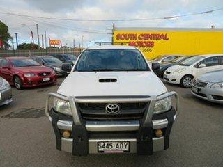 2009 Toyota Hilux KUN26R 08 Upgrade SR (4x4) White 5 Speed Manual Dual Cab Pick-up.