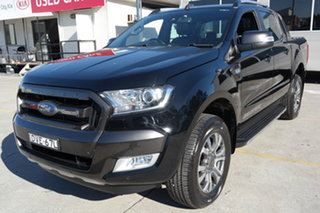 2017 Ford Ranger PX MkII Wildtrak Double Cab Black 6 Speed Manual Utility.