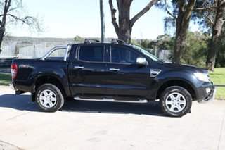 2013 Ford Ranger PX XLT Double Cab Black 6 Speed Sports Automatic Utility.