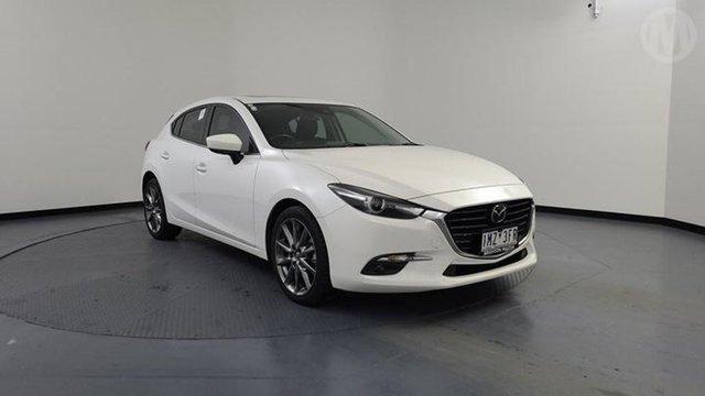 Used Mazda 3 BN MY17 SP25 Astina Altona North, 2018 Mazda 3 BN MY17 SP25 Astina Snowflake White 6 Speed Automatic Hatchback