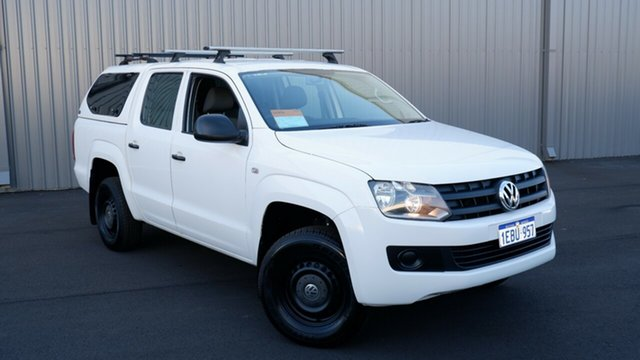 Used Volkswagen Amarok 2H MY12.5 TSI300 4x2 Maddington, 2012 Volkswagen Amarok 2H MY12.5 TSI300 4x2 White 6 Speed Manual Utility