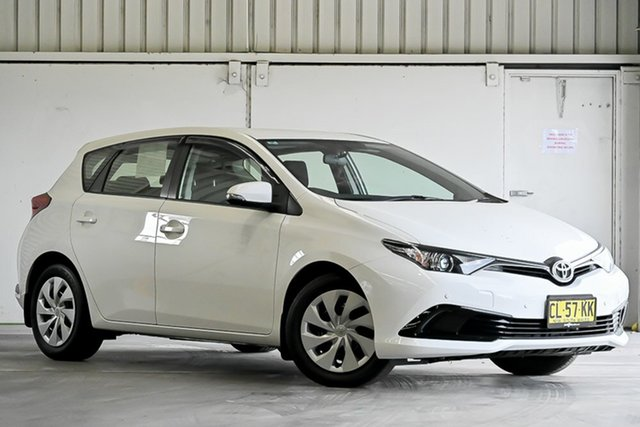 Used Toyota Corolla ZRE182R Ascent S-CVT Laverton North, 2017 Toyota Corolla ZRE182R Ascent S-CVT White 7 Speed Constant Variable Hatchback