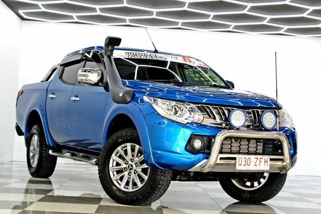 Used Mitsubishi Triton MQ MY16 GLS (4x4) Burleigh Heads, 2015 Mitsubishi Triton MQ MY16 GLS (4x4) Blue 5 Speed Automatic Dual Cab Utility