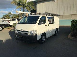 2011 Toyota HiAce KDH201R MY11 LWB French Vanilla 5 speed Manual Van.