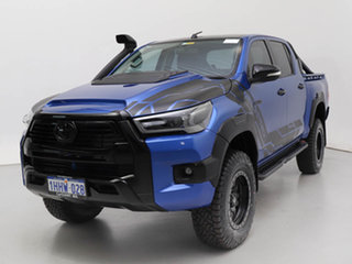 2017 Toyota Hilux GUN125R MY17 Workmate (4x4) Blue 6 Speed Automatic Dual Cab Chassis.
