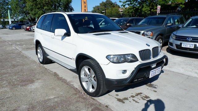 Used BMW X5 E53 MY05 d Steptronic St James, 2006 BMW X5 E53 MY05 d Steptronic White 6 Speed Sports Automatic Wagon