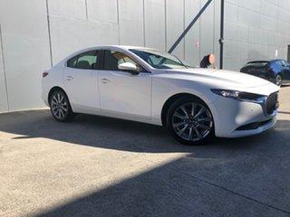 2021 Mazda 3 BP2S7A G20 SKYACTIV-Drive Evolve Snowflake White 6 Speed Sports Automatic Sedan.