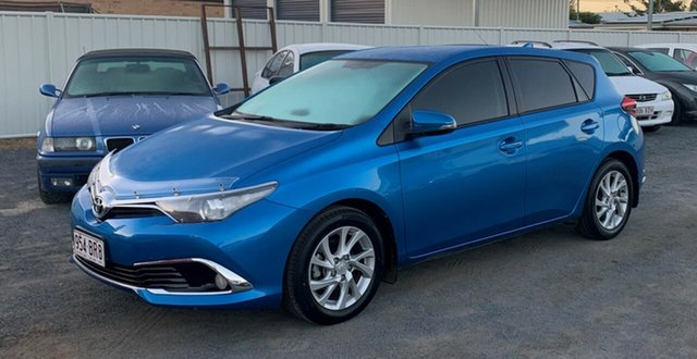 Used Toyota Corolla ZRE182R Ascent Sport S-CVT North Rockhampton, 2016 Toyota Corolla ZRE182R Ascent Sport S-CVT Blue 7 Speed Constant Variable Hatchback