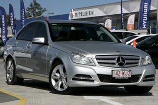 2013 Mercedes-Benz C-Class W204 MY13 C200 7G-Tronic + Silver 7 Speed Sports Automatic Sedan.
