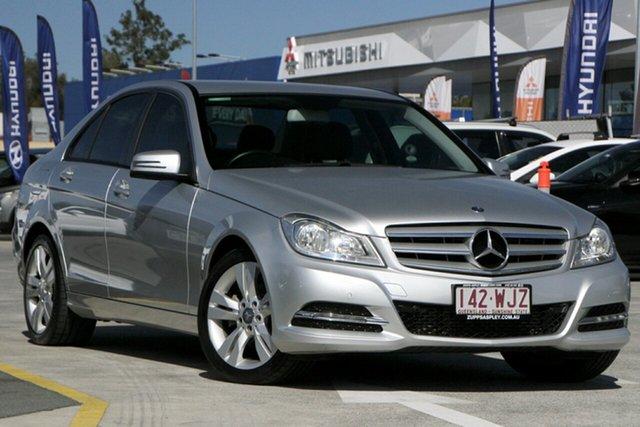 Used Mercedes-Benz C-Class W204 MY13 C200 7G-Tronic + Aspley, 2013 Mercedes-Benz C-Class W204 MY13 C200 7G-Tronic + Silver 7 Speed Sports Automatic Sedan
