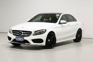 2015 Mercedes-Benz C200 205 White 7 Speed Automatic Sedan.