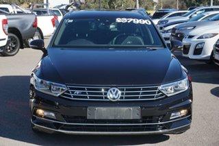 2018 Volkswagen Passat 3C (B8) MY18 132TSI DSG Black 7 Speed Sports Automatic Dual Clutch Wagon.